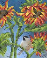 Птичка схема для вышивки бисером на ткани БК-5060