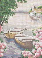 Романтический пейзаж схема для вышивки бисером на ткани А3-0252