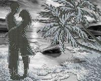Романтика у моря БК-4299 схема с рисунком на габардине для частичного вышивания бисером
