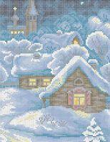 Рождественская сказка схема для вышивки бисером на ткани А4-0294