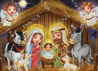 Рождество Христово схема с рисунком для вышивки бисером на габардине DANA 2157