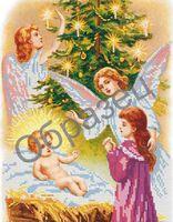 Рождество -  схема вышивки бисером, арт. ИЧ-13
