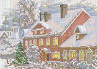Рождество схема для вышивки бисером на ткани А3-0238