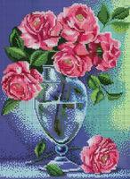 Розы в вазе DANA-385 схема для вышивания бисером и крестиком