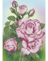 Розы, А3-Ц21 схема для вышивания бисером(крестиком) на габардине