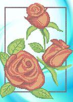 Розы cхема для вышивки бисером А3 - 0684