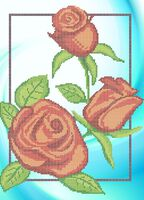 Розы А3-0684 cхема для вышивки бисером