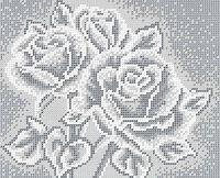 Розы схема для вышивки бисером на ткани БС-4042