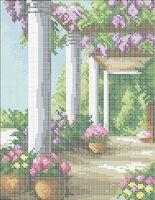 САД схема для вышивки бисером на ткани А4-0349