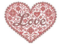 Сердце Любовь А3-0355 схема для вышивки бисером