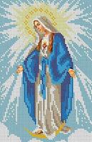 Дева Мария Непорочного Зачатия, БКР-4362 схема с рисунком для полной вышивки бисером №10 на габардине