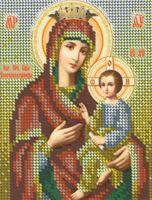Схема с рисунком для вышивки бисером  иконы Божией Матери Скоропослушница, БКР-5151