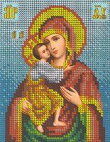 Схема с рисунком для полной вышивки бисером - Божия Матерь Феодоровская, БКР-5248