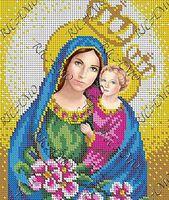 Иисус и Мария  БКР -4273 схема с рисунком для полной вышивки бисером №10 на габардине