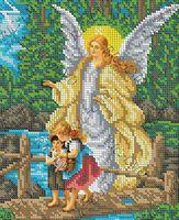 Ангел Хранитель БКР-4366 схема с рисунком для полной вышивки бисером №10 на габардине
