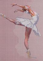 Балерина А5-175 схема вышивки бисером