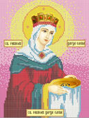 Святая Равноапостольная Царица Елена схема вышивки бисером А4-002