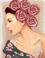 Схема для вышивки бисером на ткани Розы в волосах А3-0182