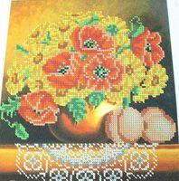 Схема вышивки бисером на ткани Солнечный букет БА4-134