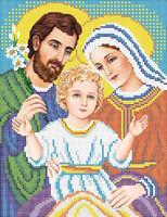Схема для вышивки бисером икона Святое Семейство А4-014