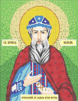 Святой преподобномученик Вадим схема с рисунком для частичной вышивки бисером формат А4-028