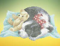 Собачий сон А4-0427 схема с рисунком для вышивания бисером