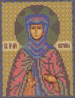 Святая Преподобномученица Евгения РИП-5113 схема с рисунком для вышивания бисером на атласе