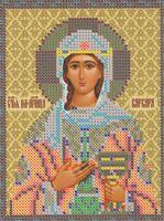 Святая Великомученица Варвара, РИП-5142 схема с рисунком для вышивки бисером на габардине