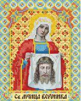 Святая Вероника ЮМА-537 схема с рисунком на атласе для частичного вышивания бисером
