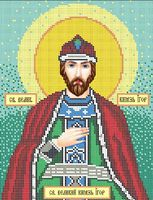 Святой Игорь схема для вышивки бисером на ткани А4-096