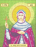 Святая мученица Дарья, А4-049 схема с рисунком для полной вышивки бисером на габардине