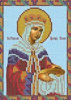 Святая мученица Елена схема вышивания бисером А5-516