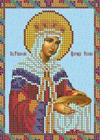 Святая мученица Елена ЮМА-516 схема вышивания бисером