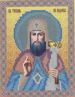 Святитель Тихон Задонский, НВП-035 схема с рисунком для частичного вышивания бисером на атласе