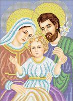 Святое Семейство схема для вышивки бисером на ткани А3-016