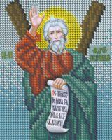 Святой Апостол Андрей Первозванный-БКР-5069 схема для вышивания бисером на габардине