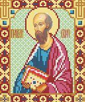 Святой Апостол Павел ВТ 2027 схема с рисунком на атласе для полного вышивания бисером