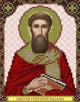 Святой Григорий Палама VIA5057 схема с рисунком для полной вышивки бисером №10 на габардине