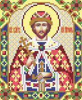 Святой Игорь АР 2038 схема с рисунком на атласе для полного вышивания бисером