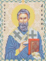 Святой Леонид ЮМА-5100 схема с рисунком для частичного вышивания бисером на атласе