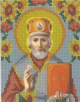 Святой Николай Чудотворец БКР-5164 схема с рисунком для вышивания бисером на габардине