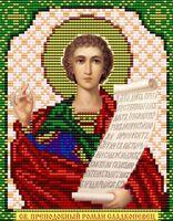 Святой Преподобный Роман Сладкопевец VIA5031 схема с рисунком для полной вышивки бисером №10 на габардине
