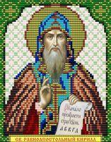 Святой Равноапостольный Кирилл VIA5042 схема с рисунком для полной вышивки бисером №10 на габардине