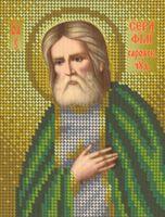 Святой Серафим Саровский БКР-5196 схема с рисунком для вышивания бисером на габардине
