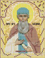 Святой Вадим ЮМА-5111 схема с рисунком на атласе для частичного вышивания бисером