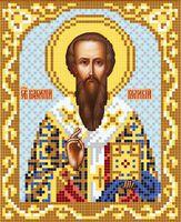Святой Василий Великий АР 2041 схема с рисунком на атласе для полного вышивания бисером