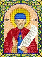 Святой Виталий ЮМА-541 схема с рисунком на атласе для частичного вышивания бисером