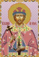 Святой князь Игорь НВП-044 схема с рисунком на атласе для частичного вышивания бисером