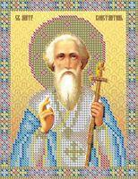 Святой мученик Константин НВП-042 схема с рисунком на атласе для частичного вышивания бисером