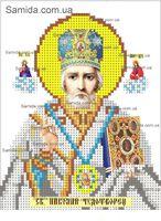 Святой Николай Чудотворец схема для вышивки бисером SAИ 5-5